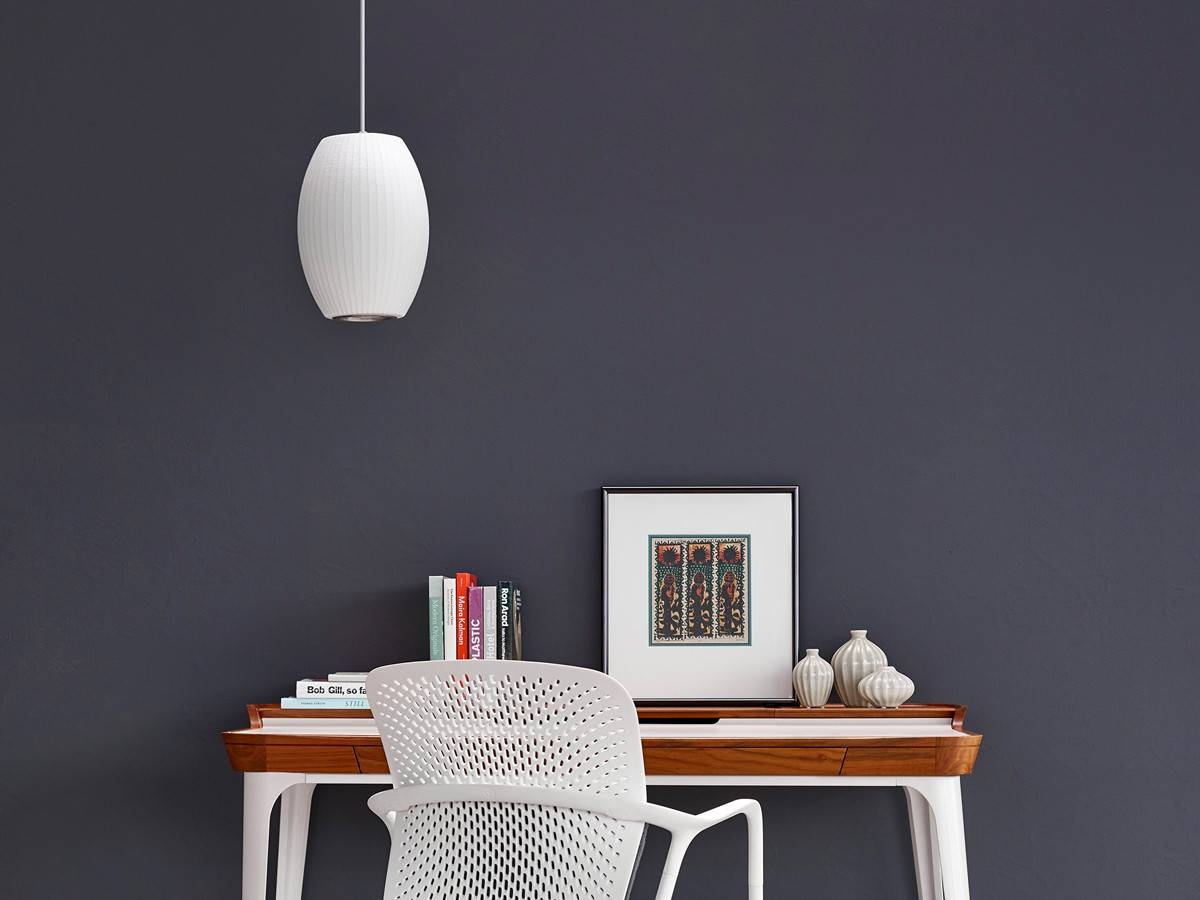Buy The Herman Miller George Nelson Bubble Cigar Pendant Lamp At with regard to Nelson Pendant Lights (Image 6 of 15)