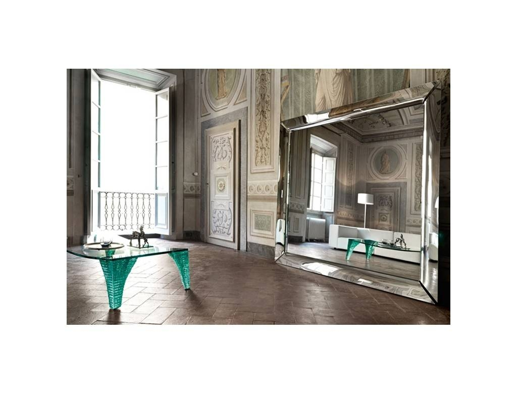 Caadre Freestanding Rectangular Large | Fiam | Mirrors throughout Contemporary Large Mirrors (Image 3 of 15)