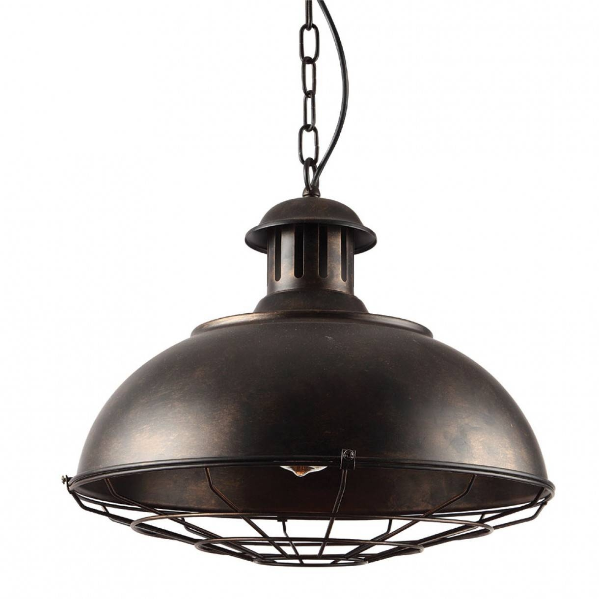 Cage Shade 1 Light Chain Pendant with regard to Traditional Pendant Lights Australia (Image 4 of 15)
