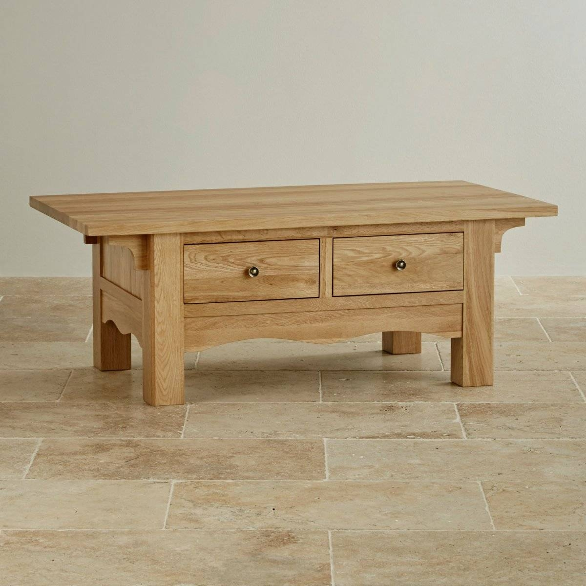 Cairo Natural Solid Oak Coffee Table intended for Solid Oak Coffee Tables (Image 4 of 15)