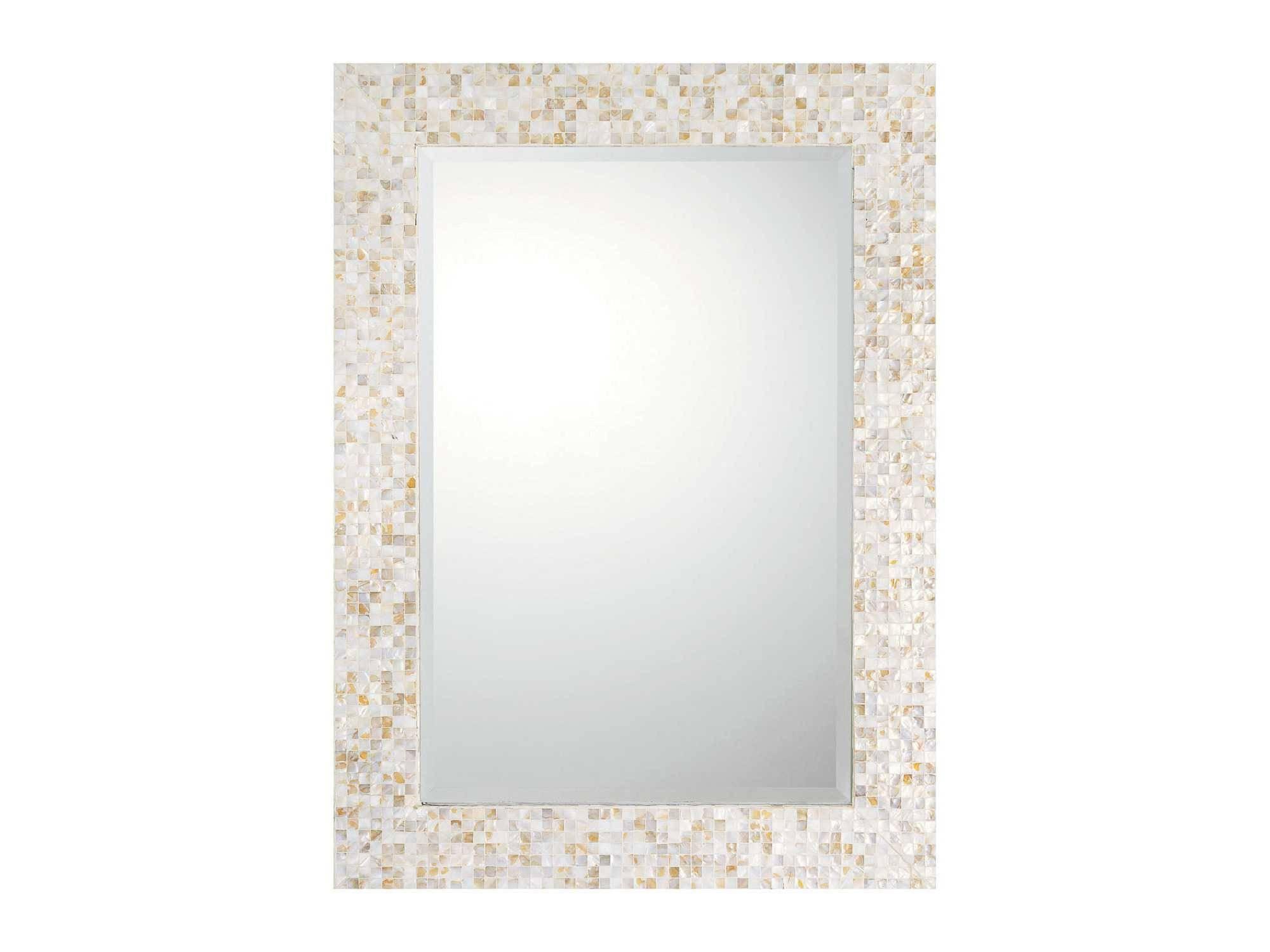 Capital Lighting 32 X 44 Rectangular Beveled Mother Of Pearl Wall For Mother Of Pearl Wall Mirrors (View 4 of 15)