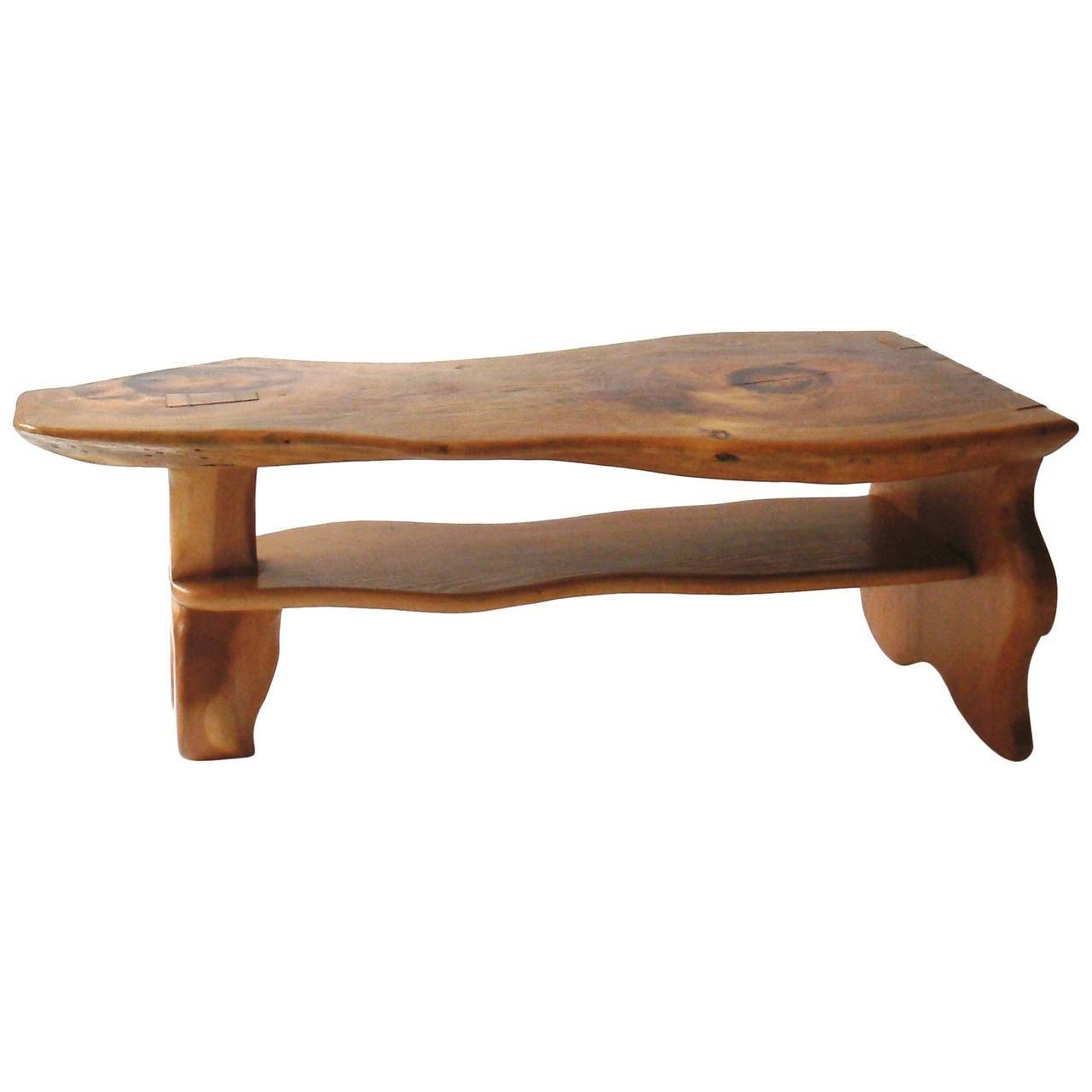 Carved Live Edge Coffee Table, Manner Of Alexandre Noll For Sale in Live Edge Coffee Tables (Image 4 of 15)
