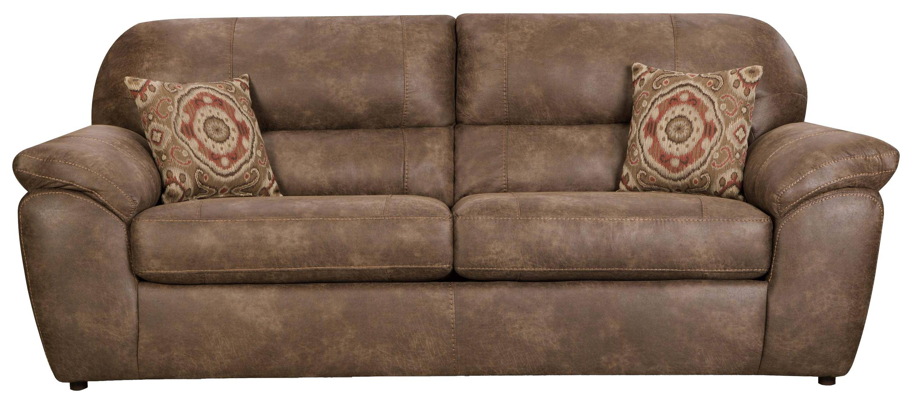Casual Faux Leather Plush Sofacorinthian | Wolf And Gardiner Intended For Corinthian Sofas (View 2 of 15)