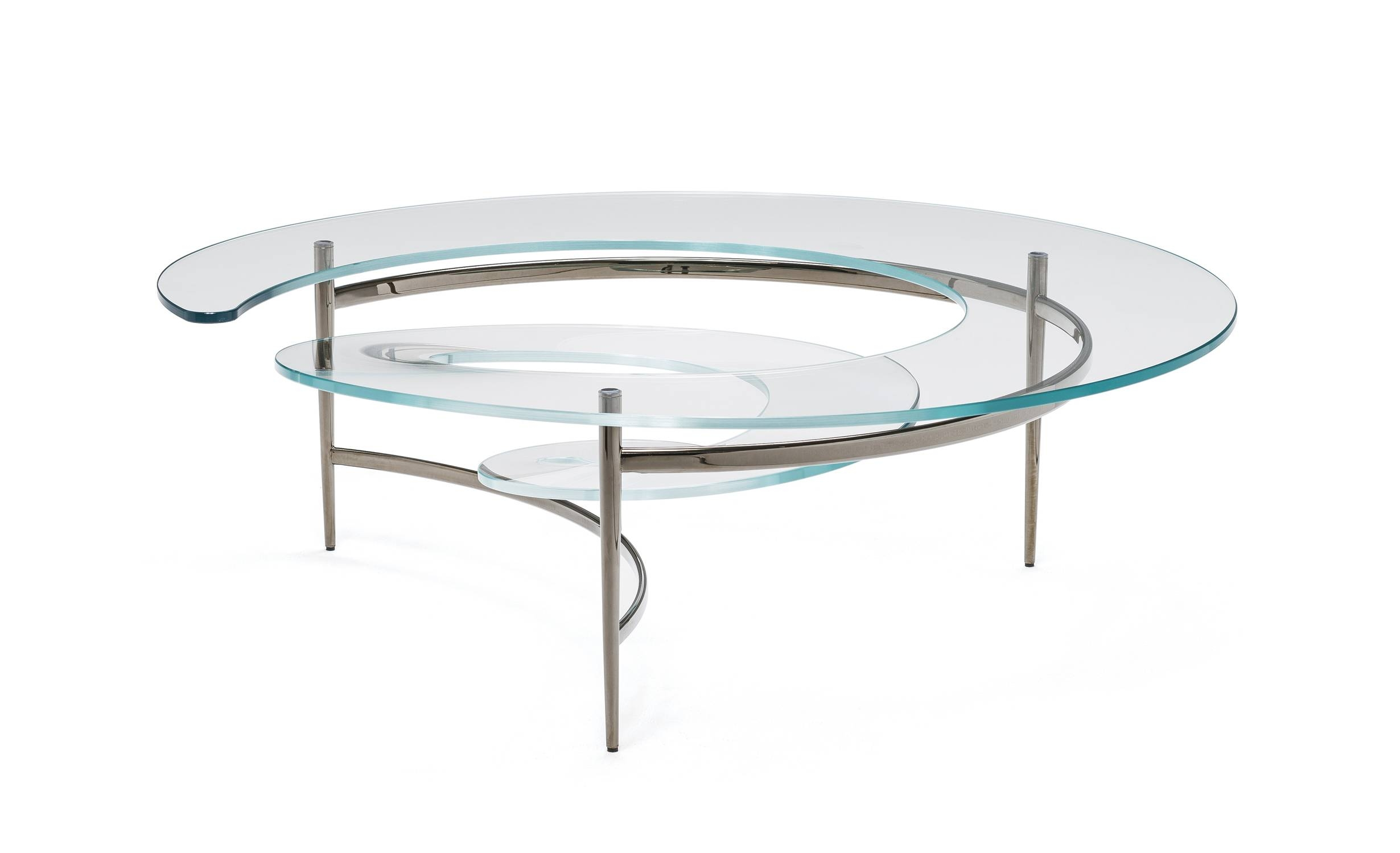 Cattelan Italia Spiral Coffee Table | Buy From Campbell Watson Uk with Spiral Glass Coffee Table (Image 6 of 15)
