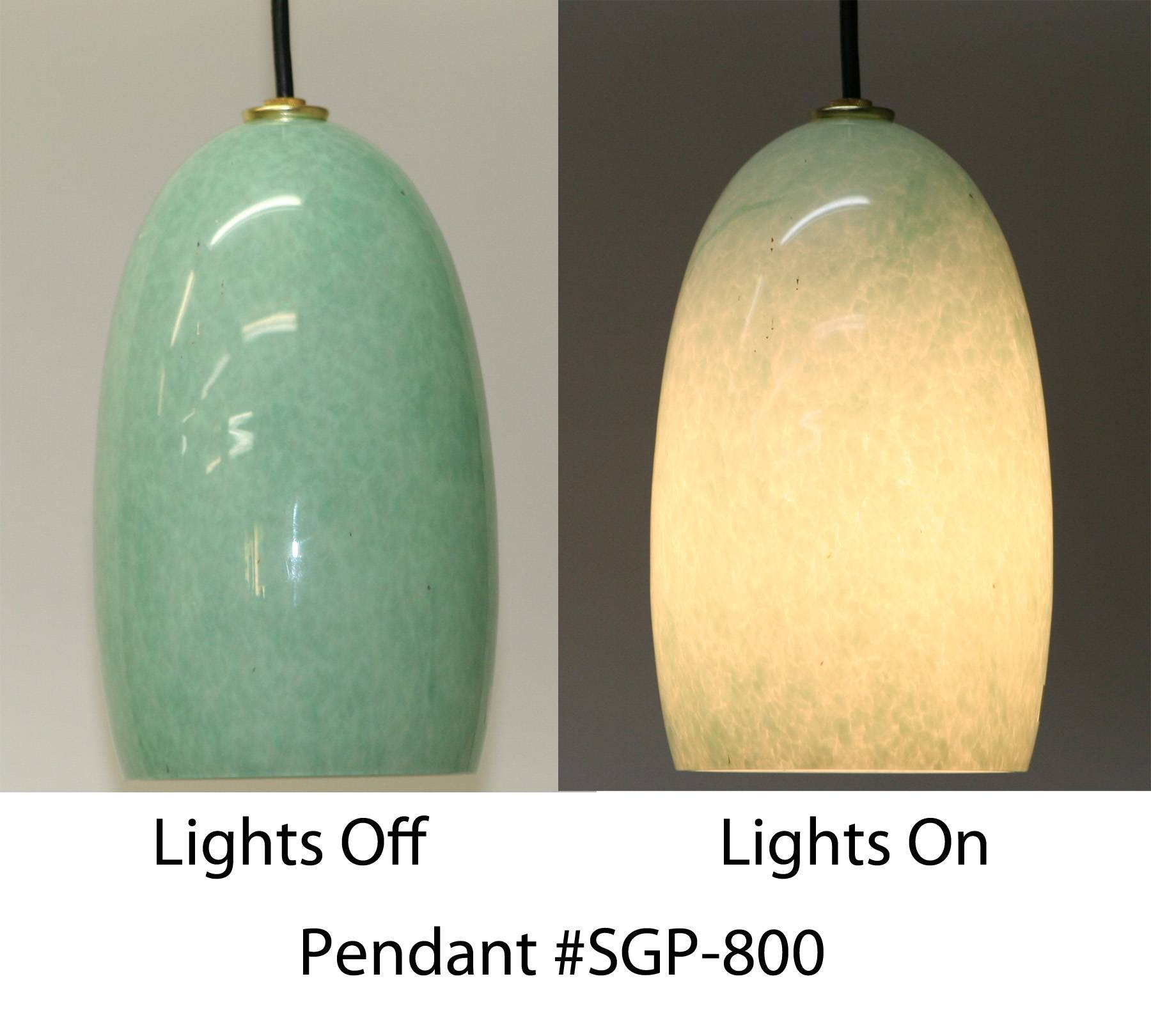 Celadon Hand Blown Glass Pendant Light | Artisan Crafted Home with Artisan Glass Pendant Lights (Image 13 of 23)
