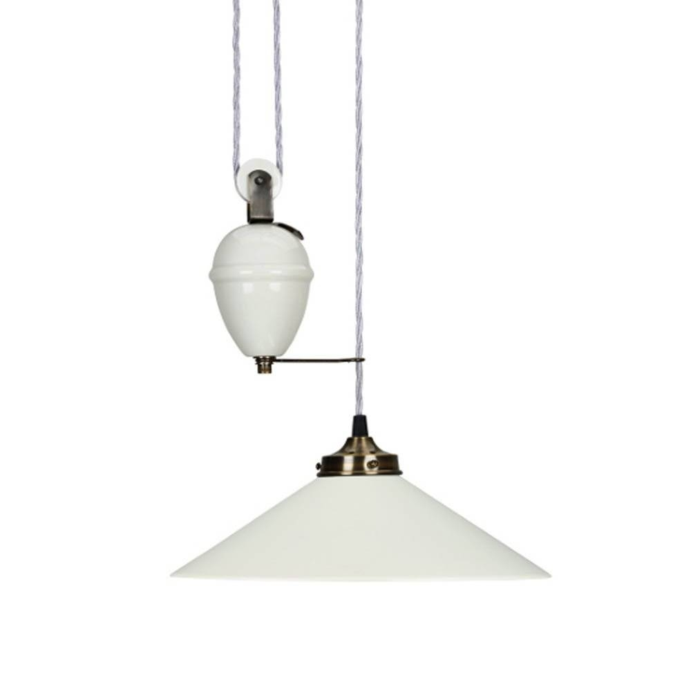 Ceramic Rise & Fall Ceiling Lamp in Rise And Fall Pendant Lights (Image 4 of 15)