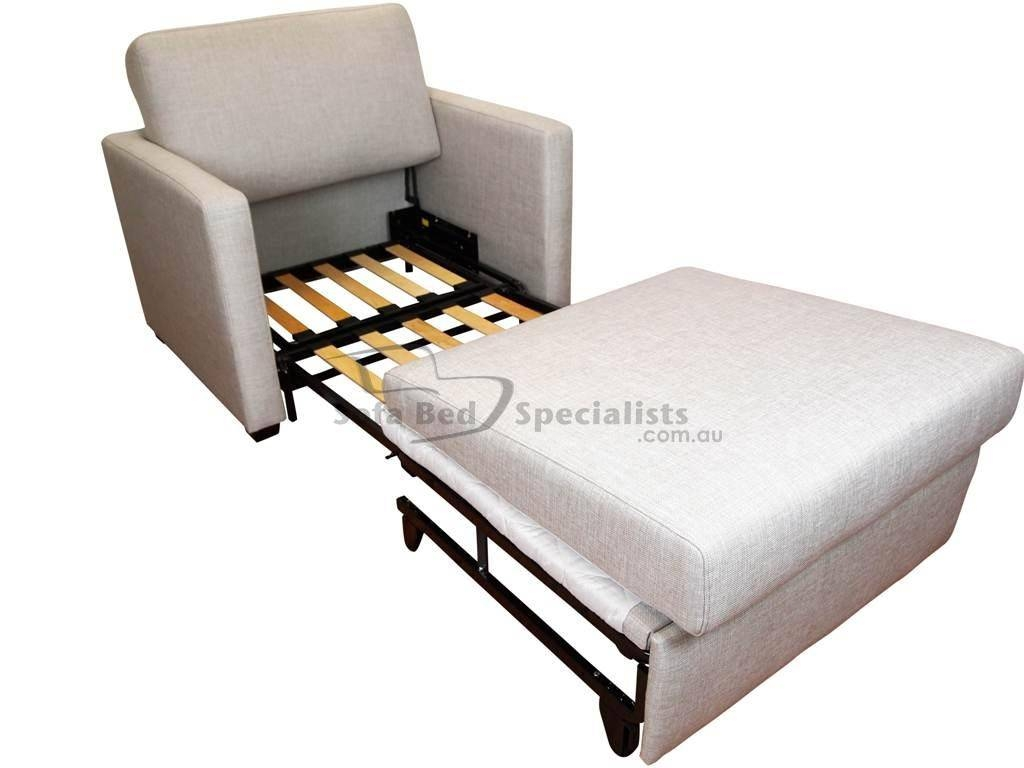 Chair Sofabed With Timber Slats – Sofa Bed Specialists Pertaining To Single Sofa Bed Chairs (View 8 of 15)