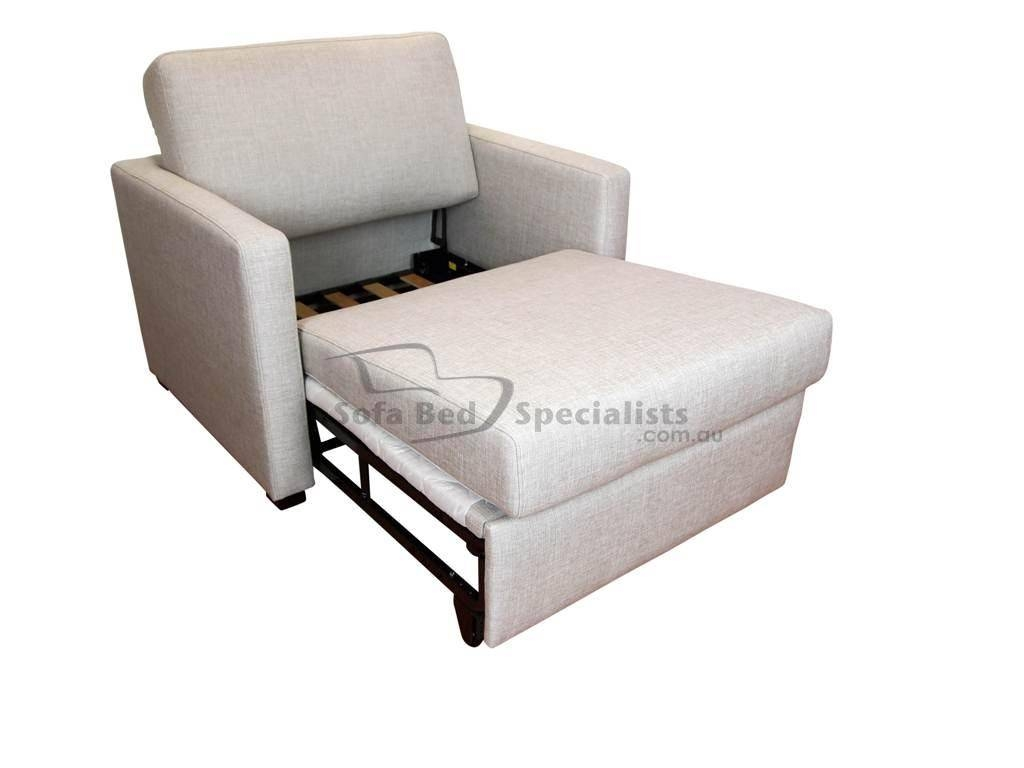 Chair Sofabed With Timber Slats - Sofa Bed Specialists throughout Sofa Beds Chairs (Image 3 of 15)