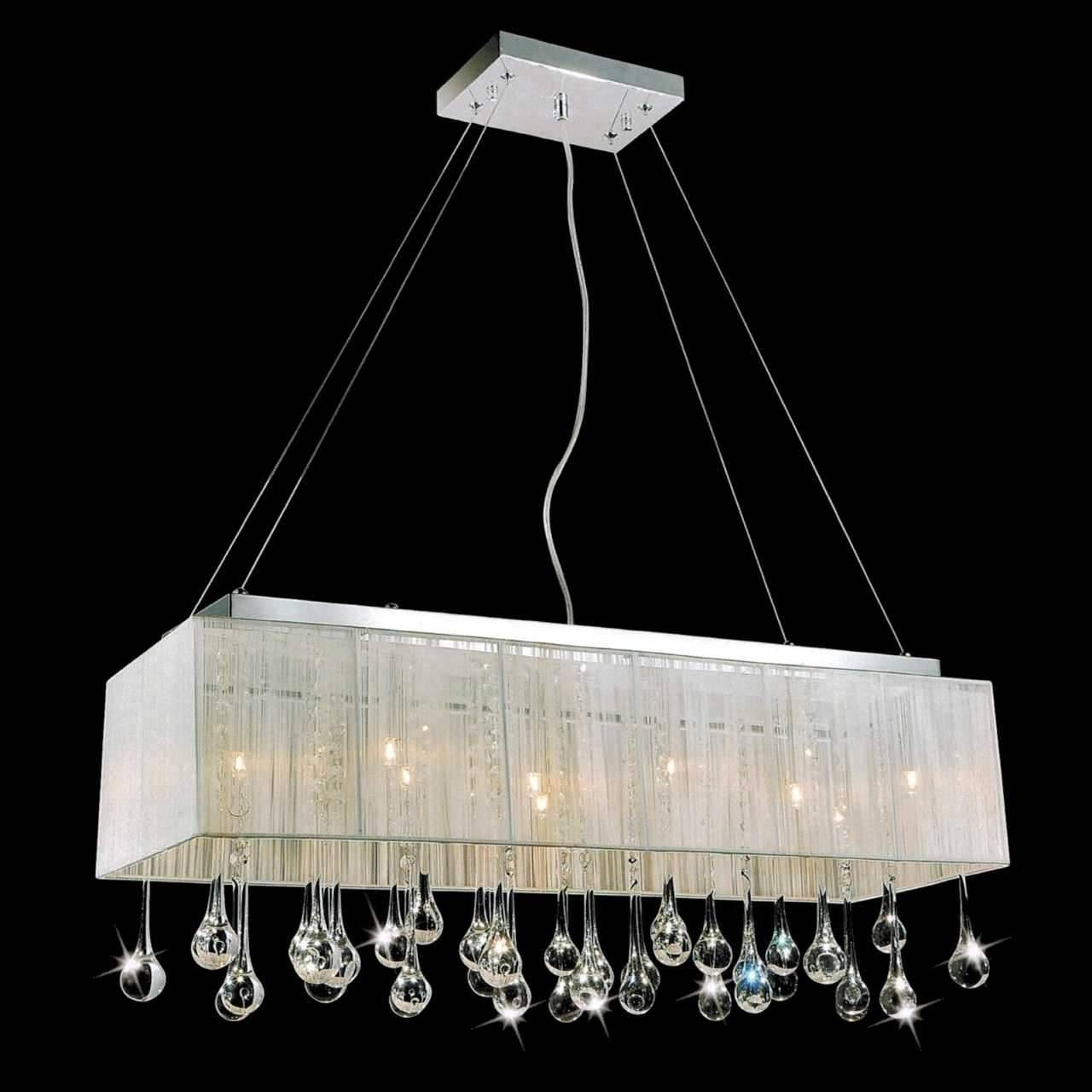 Chandelier: Awesome Rectangular Drum Chandelier Rectangular Shade Within Rectangular Drum Pendant Lights (View 7 of 15)