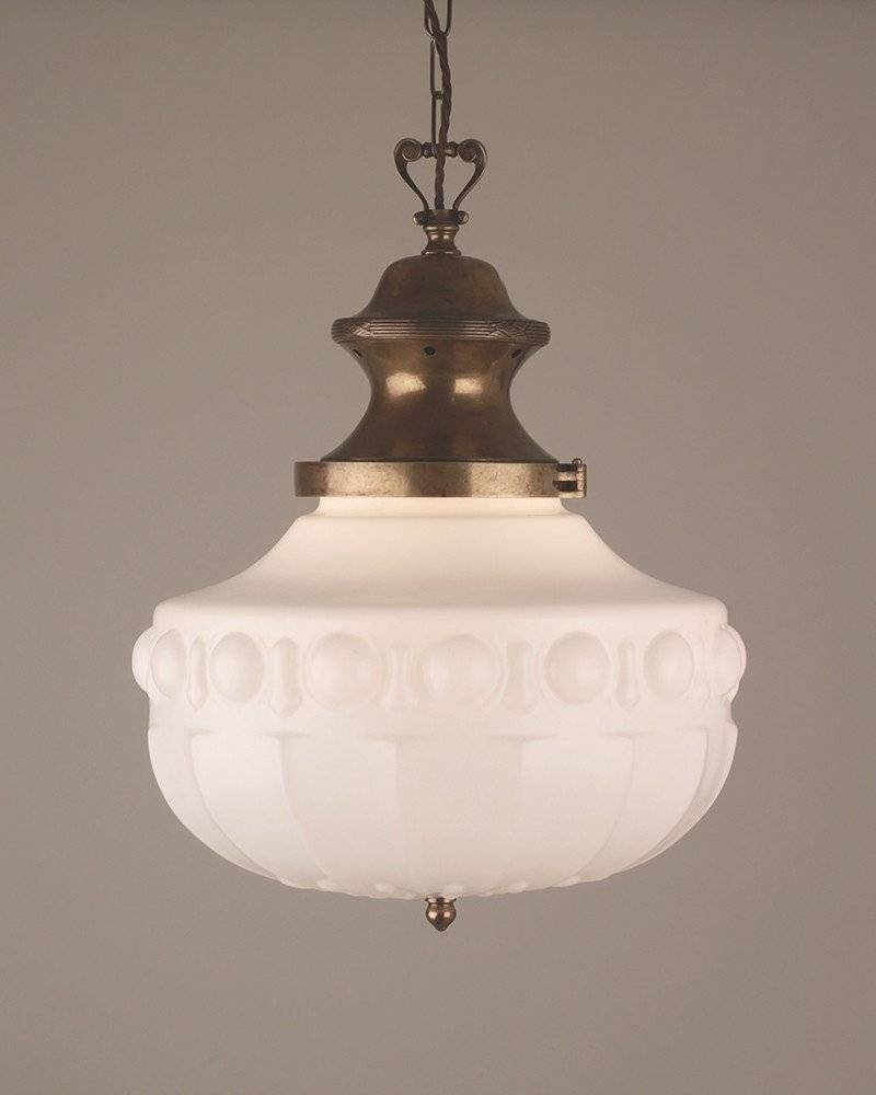 Chandelier, Edwardian Molded Glass Pendant Light pertaining to Edwardian Lamp Pendant Lights (Image 7 of 15)