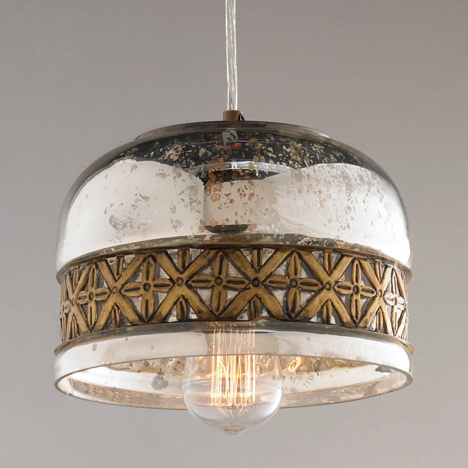 Chandelier: Fascinating Mercury Glass Chandelier | Cool Mercury for Mercury Glass Lights Fixtures (Image 4 of 15)