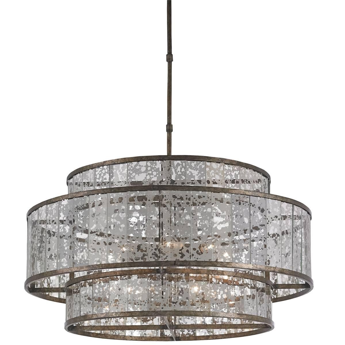 Chandelier: Unique Mercury Glass Light Fixtures | Terrific Mercury in Mercury Glass Lights Fixtures (Image 5 of 15)