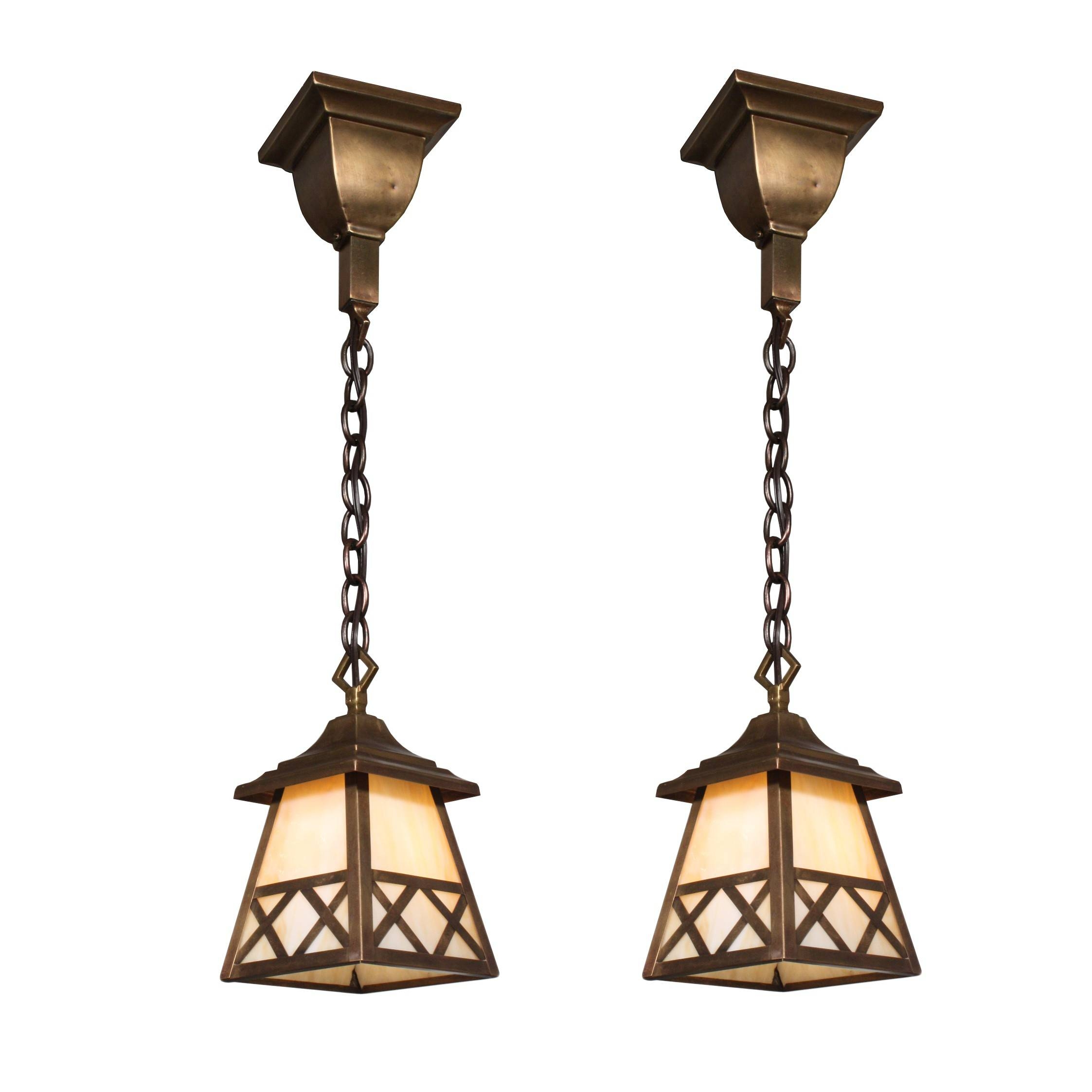 Charming Antique Arts & Crafts Lantern Pendant Lights, Original for Arts And Crafts Pendant Lighting (Image 7 of 15)