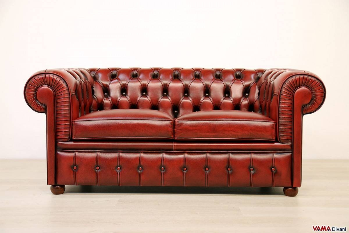 Chesterfield 2 Seater Sofa | Price, Upholstery And Dimensions for Red Leather Chesterfield Sofas (Image 2 of 15)