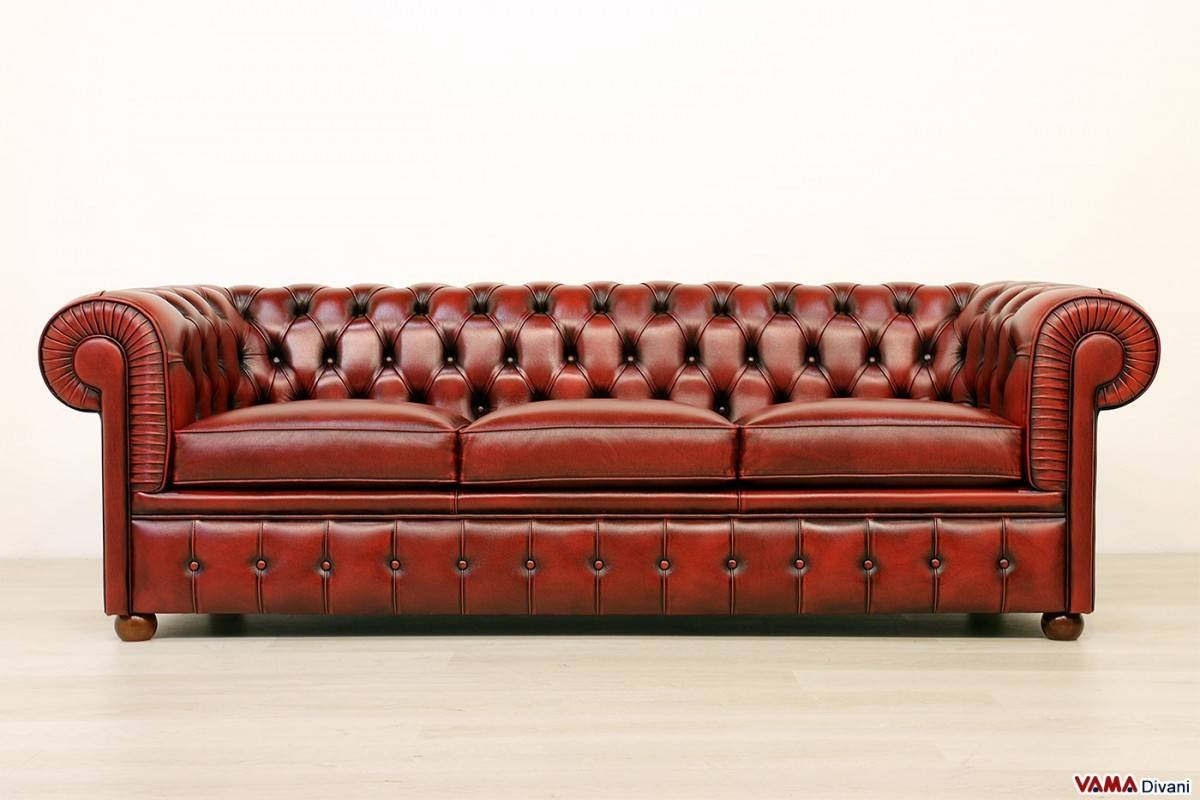Chesterfield 3 Seater Sofa | Price And Dimensions with Red Chesterfield Sofas (Image 4 of 15)