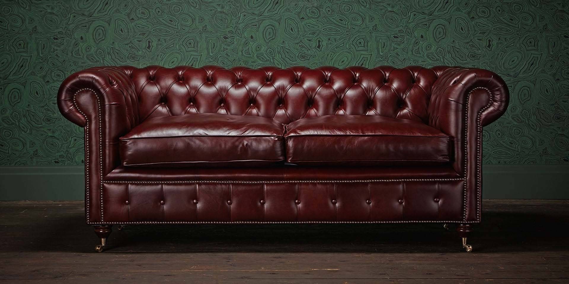 Chesterfields Of England | The Original Chesterfield Company regarding Red Leather Chesterfield Sofas (Image 6 of 15)