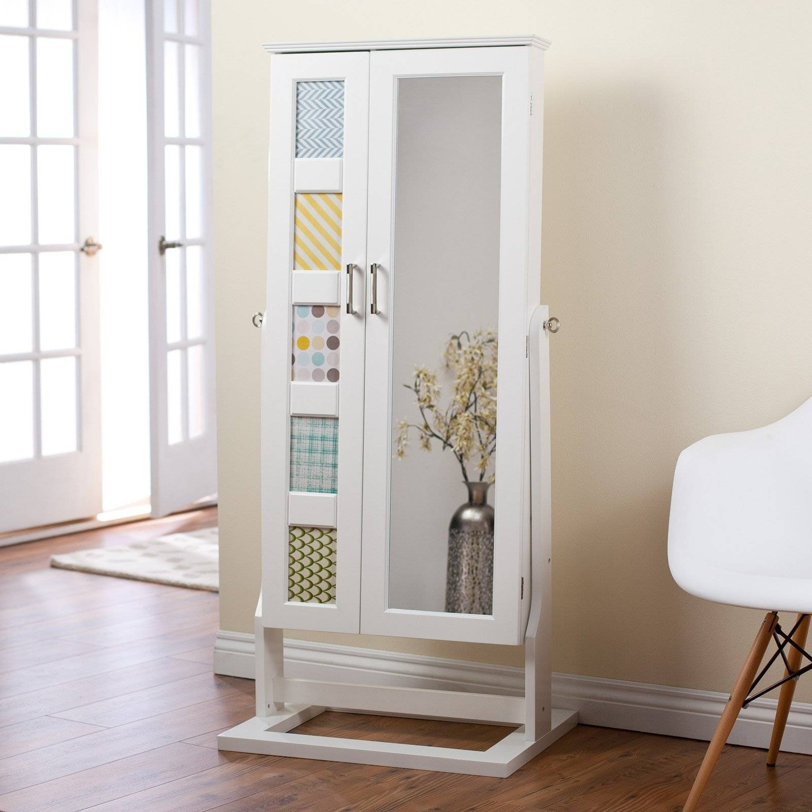 Cheval Free Standing Jewelry Armoire With Mirror | Vanity Decoration with regard to Cheval Freestanding Mirrors (Image 6 of 15)