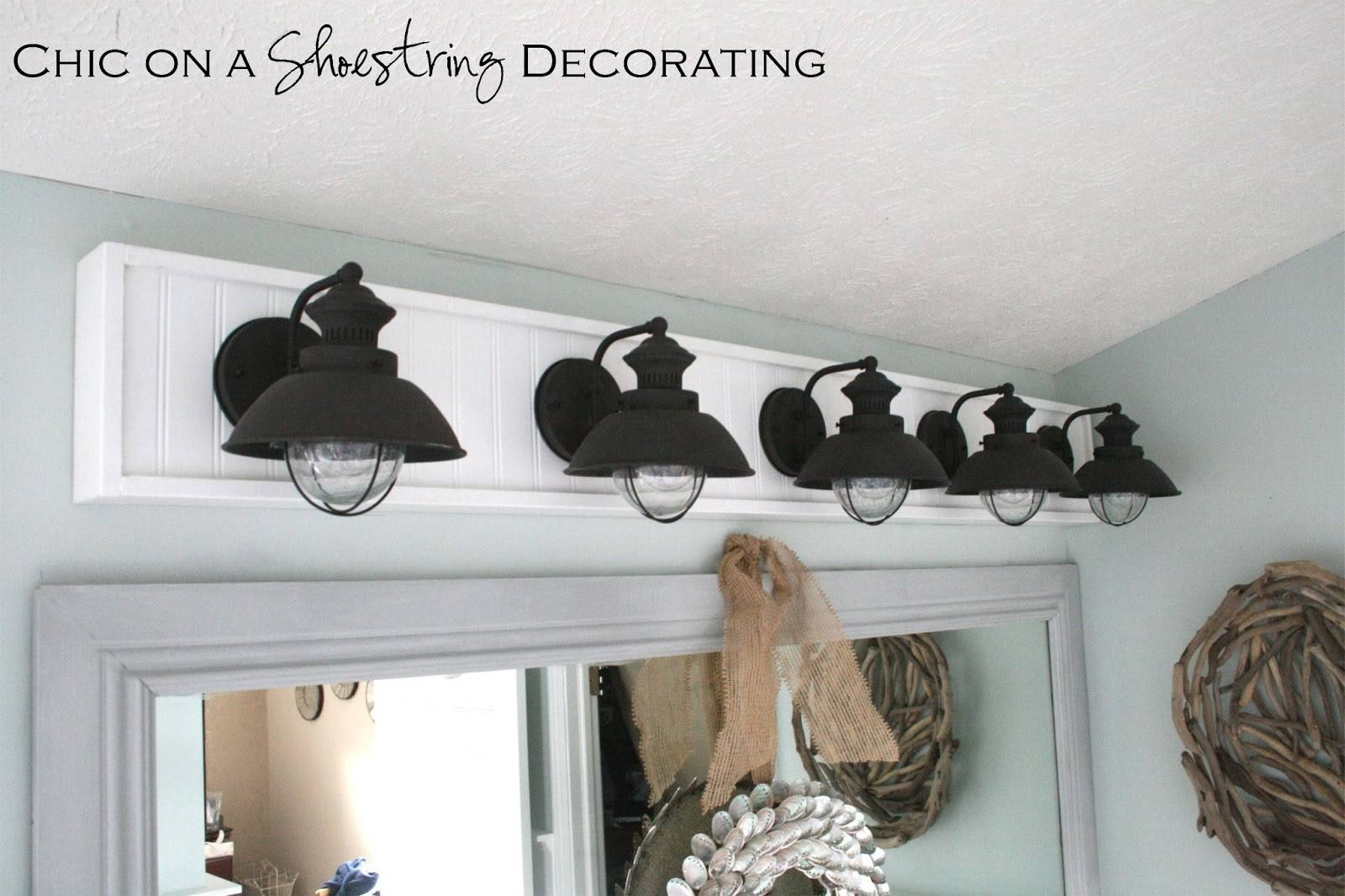 Chic On A Shoestring Decorating: How To Build A Bathroom Light Fixture with regard to Beachy Lighting (Image 9 of 15)