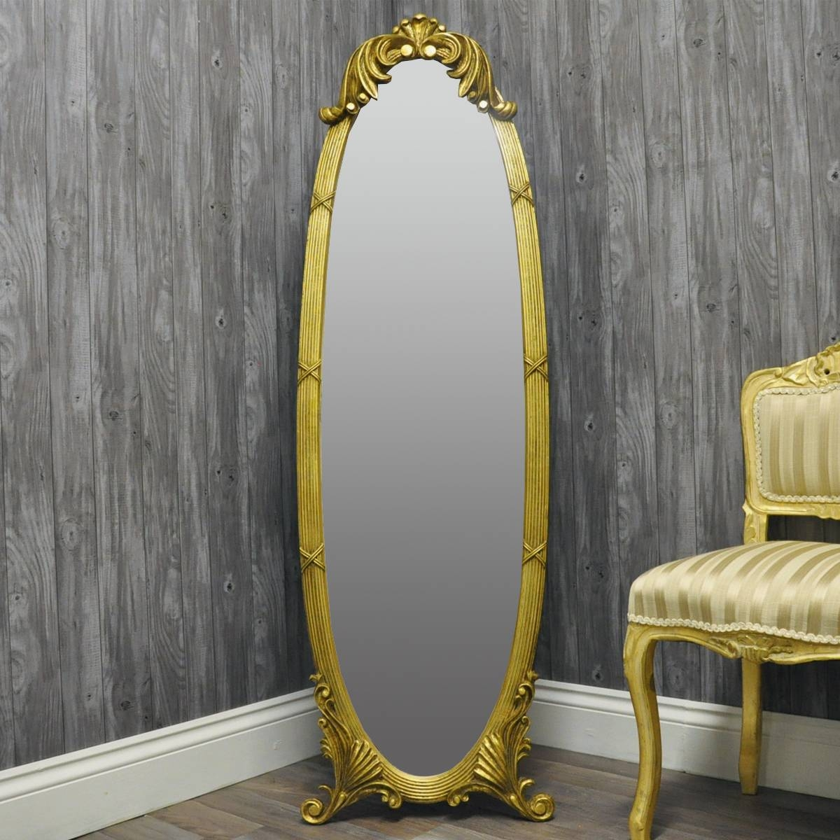 Choose From A Range Of Full Length Cheval Mirrors intended for Gold Full Length Mirrors (Image 4 of 15)