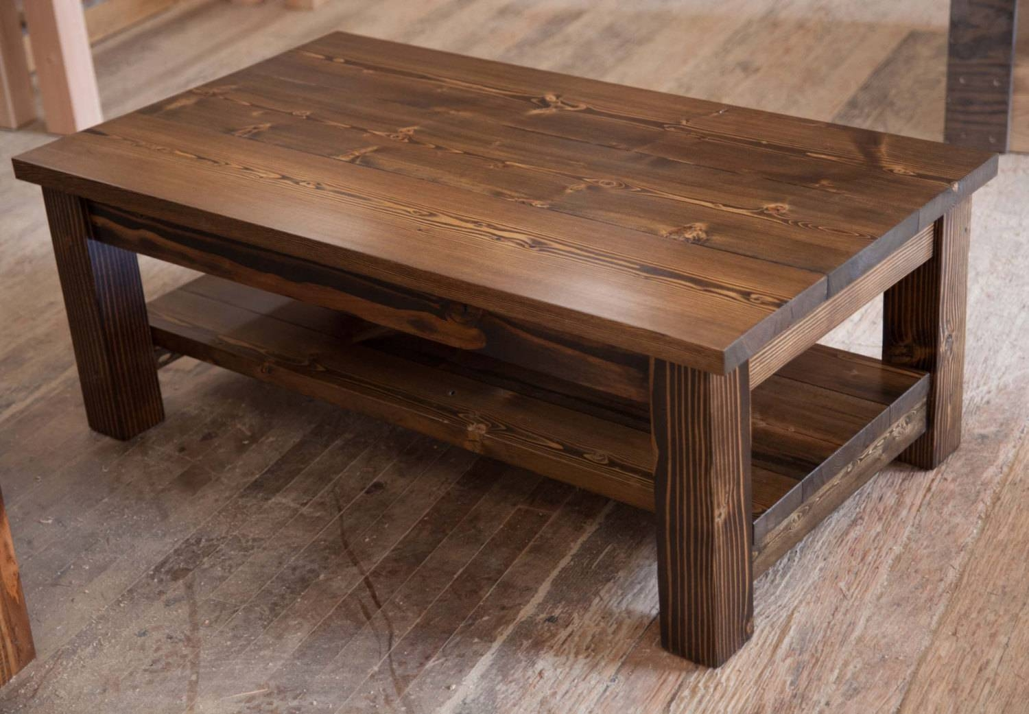 Choosing Rustic Wood Coffee Table | Gazebo Decoration intended for Rustic Wooden Coffee Tables (Image 2 of 15)
