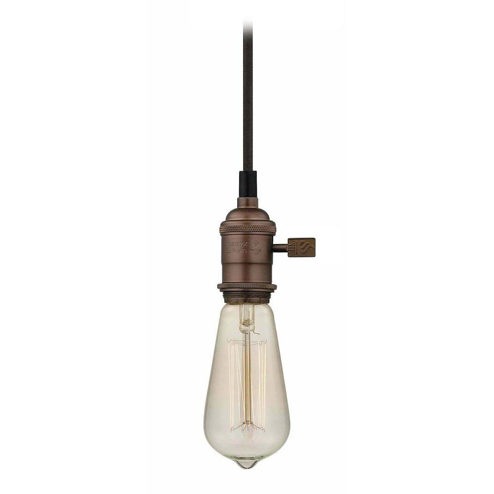 Chrome Bare Bulb Pendant Light With Squirrel Edison Bulb - 60 intended for Bare Bulb Pendant Lighting (Image 5 of 15)