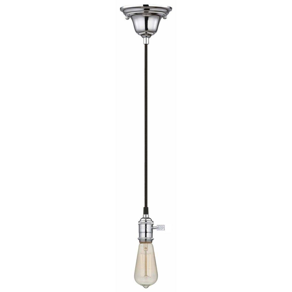 Chrome Bare Bulb Pendant Light With Squirrel Edison Bulb - 60 pertaining to Bare Bulb Pendant Lighting (Image 6 of 15)