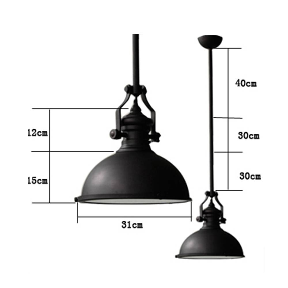 Classic Black Loft America Country Industrial Pendant Light Drop regarding Industrial Pendant Lights (Image 3 of 15)