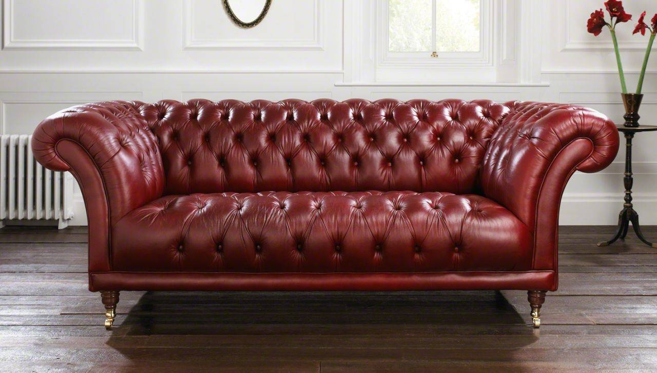Clean And Bright Chesterfield Sofa — New Lighting New Lighting inside Red Leather Chesterfield Sofas (Image 7 of 15)