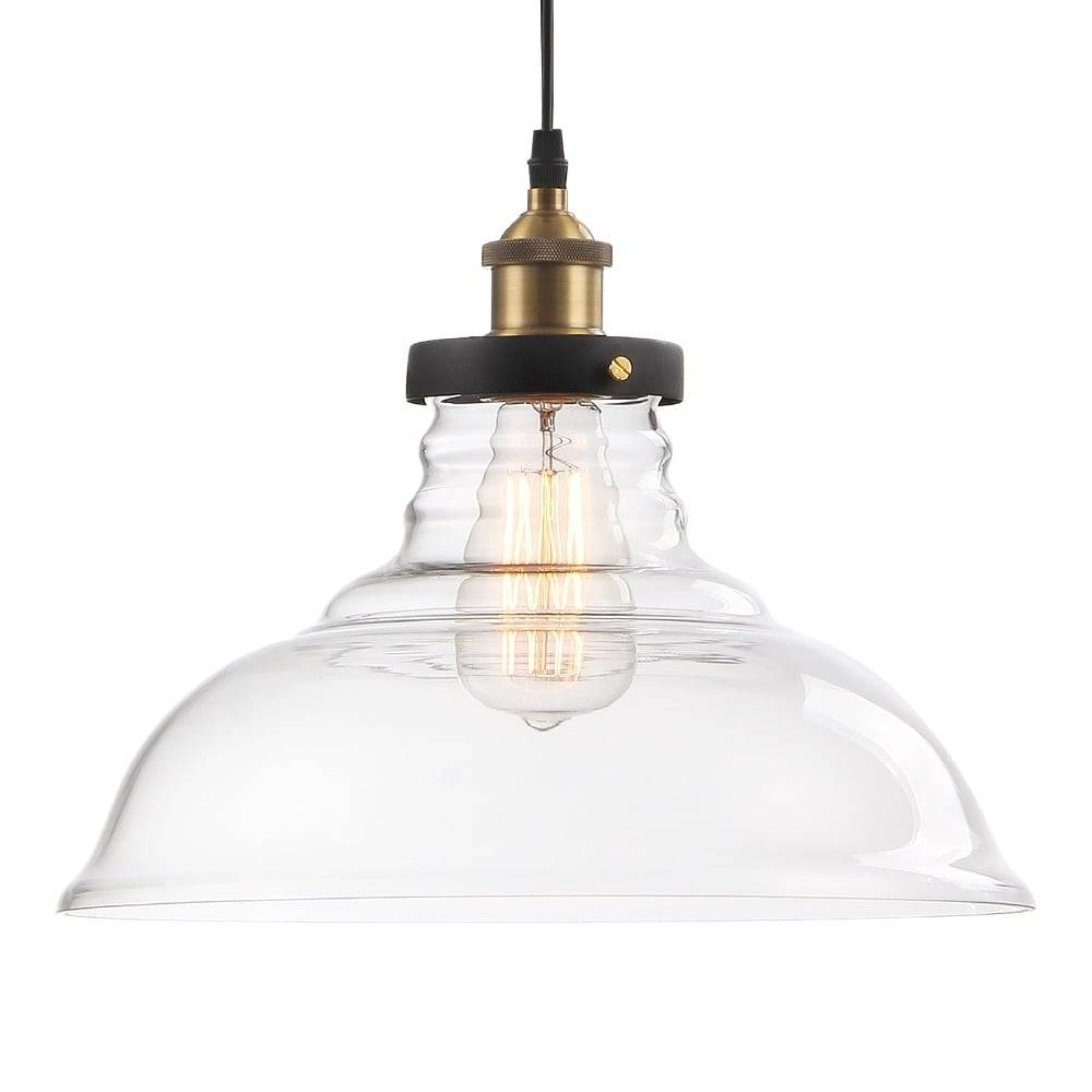 Clear Factory Glass Dome Pendant Light | Bar & Restaurant Lighting in Large Dome Pendant Lights (Image 4 of 15)