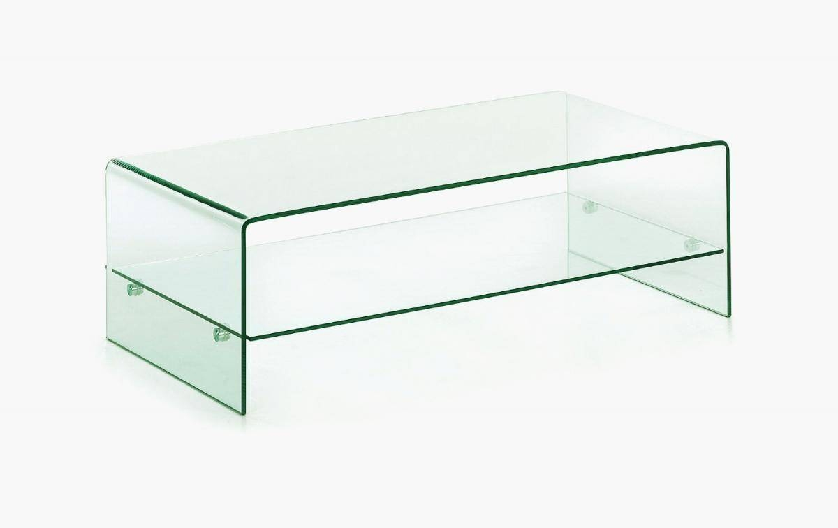 Clear Glass Coffee Table With Shelf   Homegenies With Regard To Glass  Coffee Table With Shelf