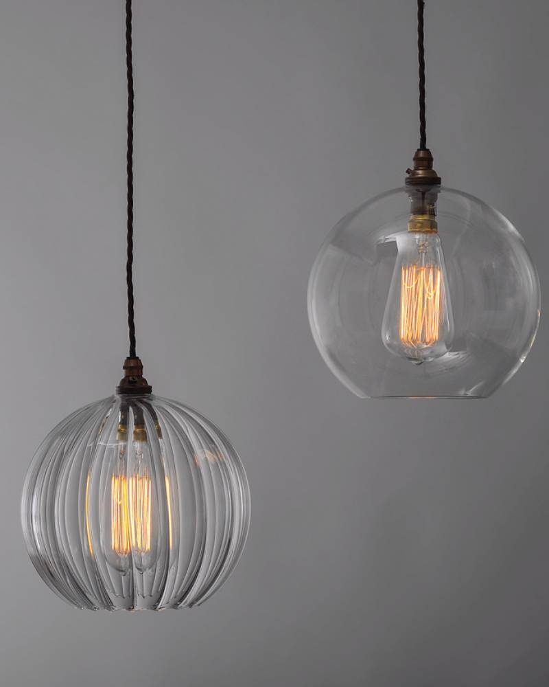 Clear Glass Globe Pendant Light - Baby-Exit intended for Large Glass Ball  Pendant Lights