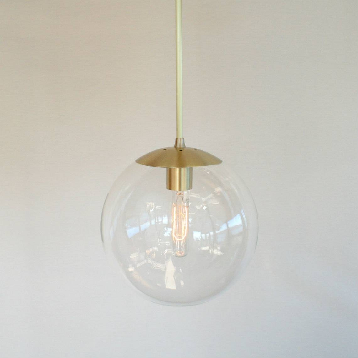 Clear Glass Globe Pendant Light - Baby-Exit pertaining to Clear Glass Ball Pendant Lights (Image 1 of 15)