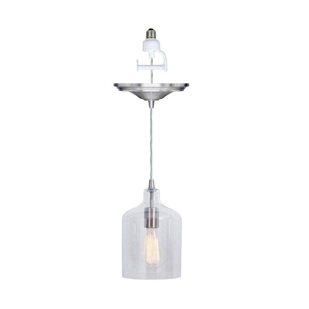 Clear - Pendant Lights - Hanging Lights - The Home Depot pertaining to Instant Pendants (Image 1 of 15)