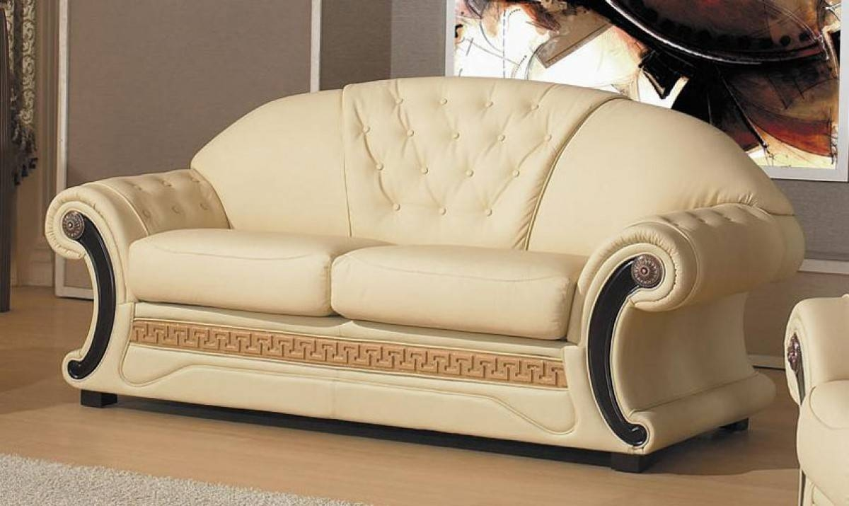 Cleopatra - Traditional Leather Sofa Set with regard to Cleopatra Sofas (Image 2 of 15)