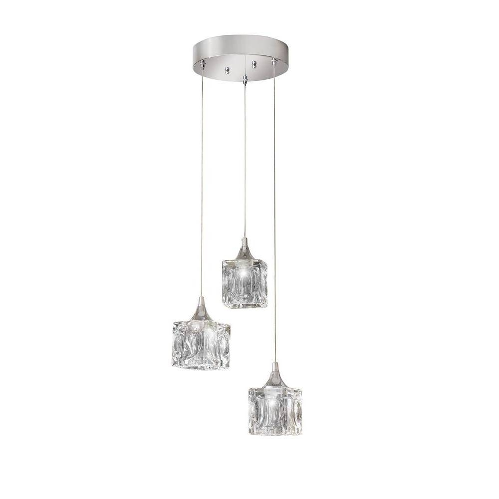 Cluster – Pendant Lights – Hanging Lights – The Home Depot In Cluster Glass Pendant Light Fixtures (View 3 of 15)
