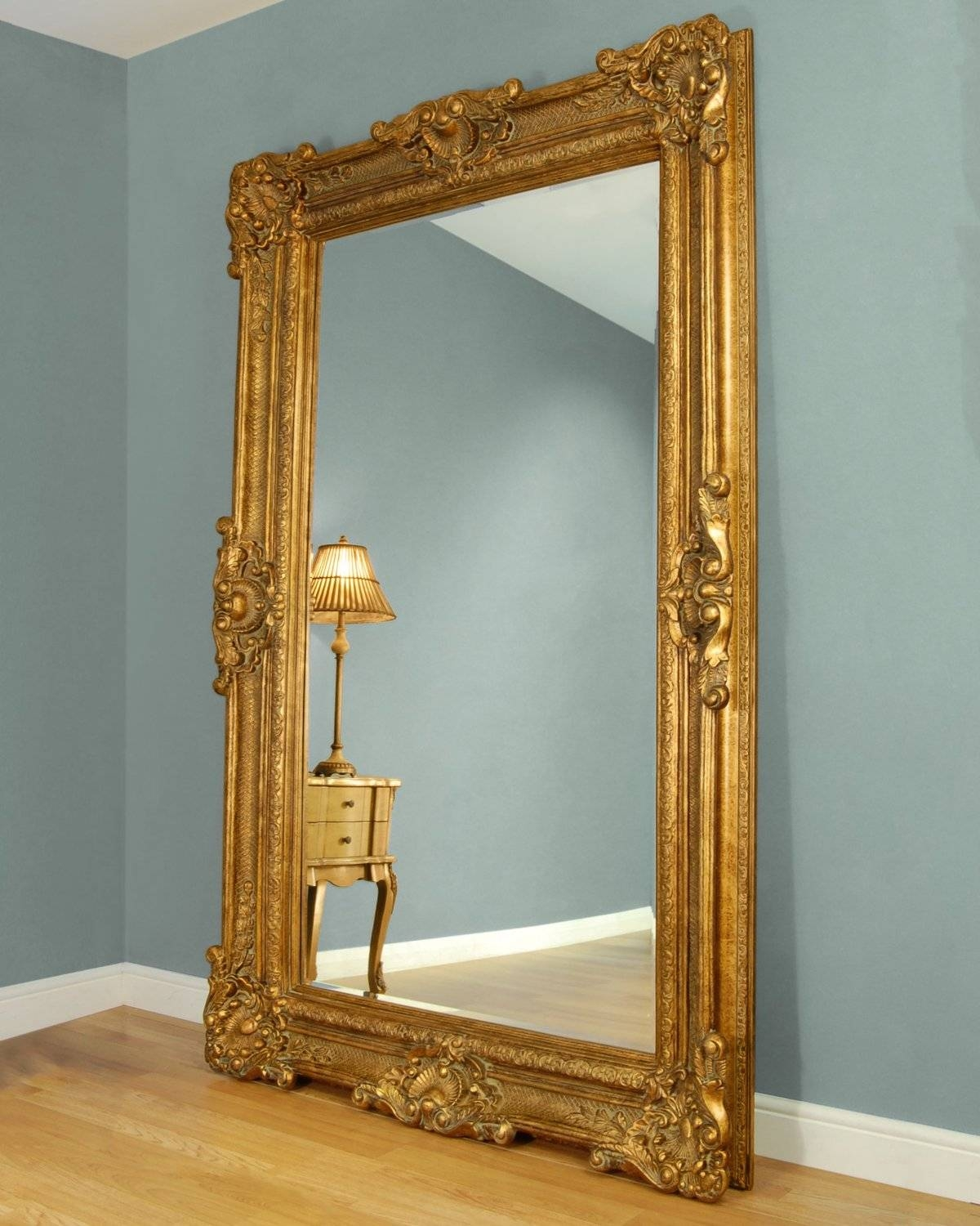 C&m Bridgewater Large Gold Framed Leaner Mirror | Blingby inside Ornate Leaner Mirrors (Image 5 of 15)