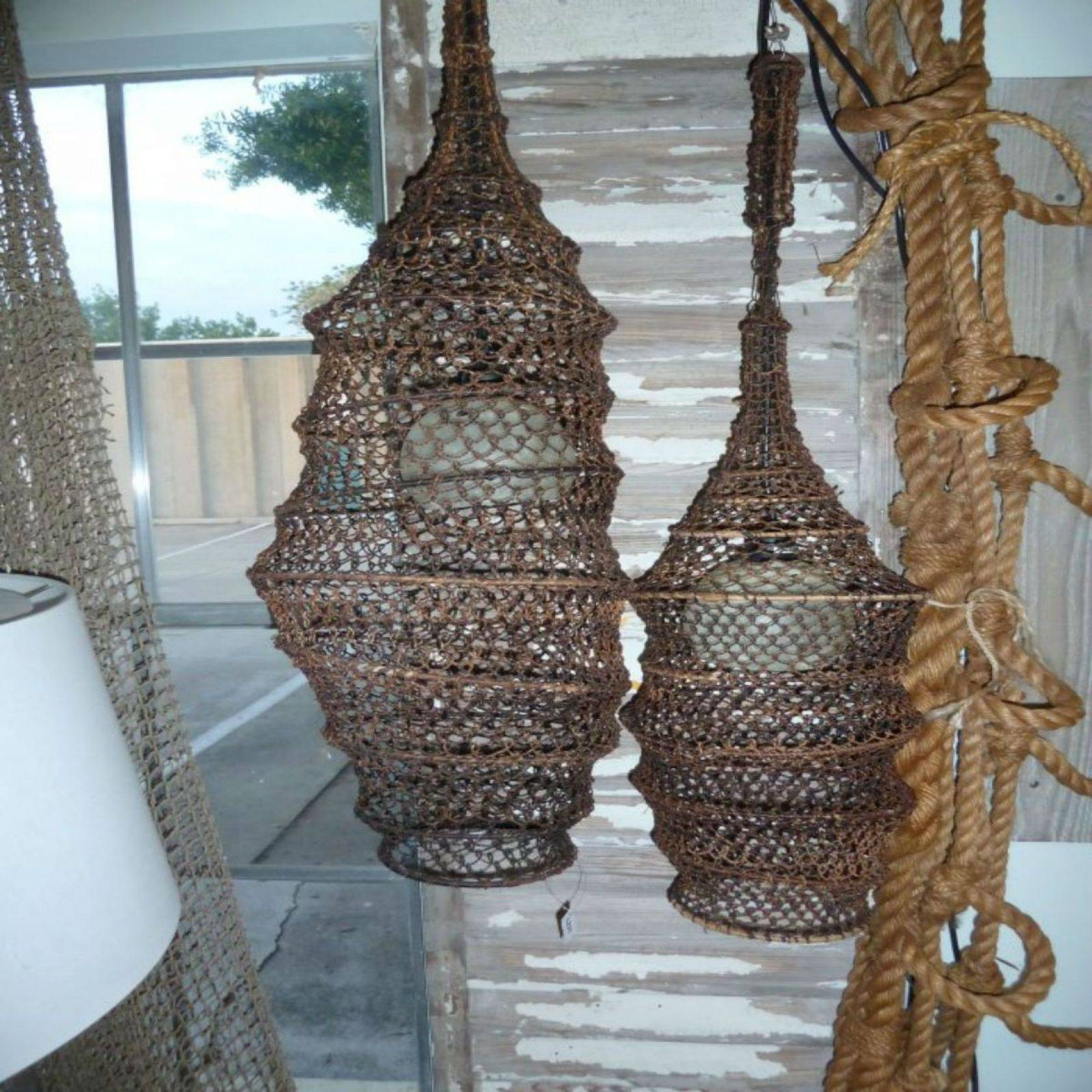 Coastal Chandeliers: Iron, Rope, Driftwood, Sea Glass - Nautical pertaining to Pendant Fishing Lights (Image 3 of 15)