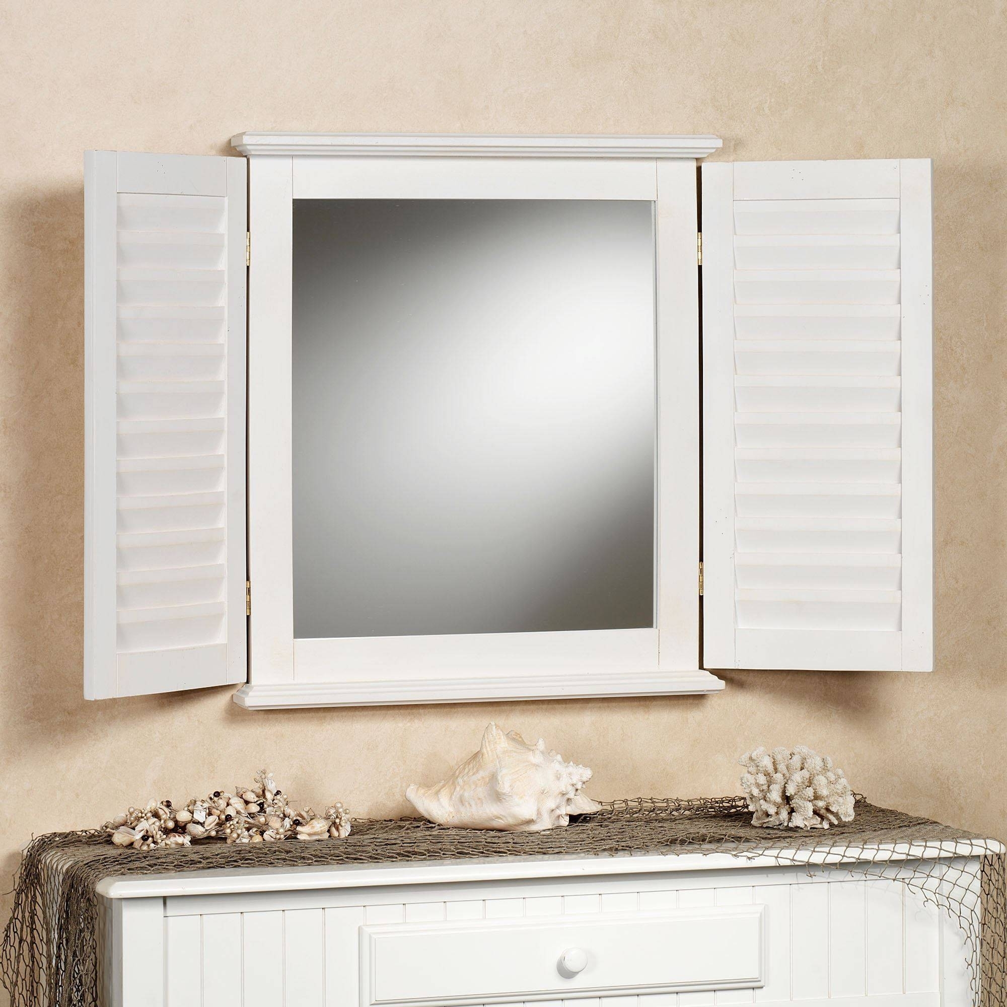 Coastal Shutter Wall Mirror intended for Window Shutter Mirrors (Image 7 of 15)