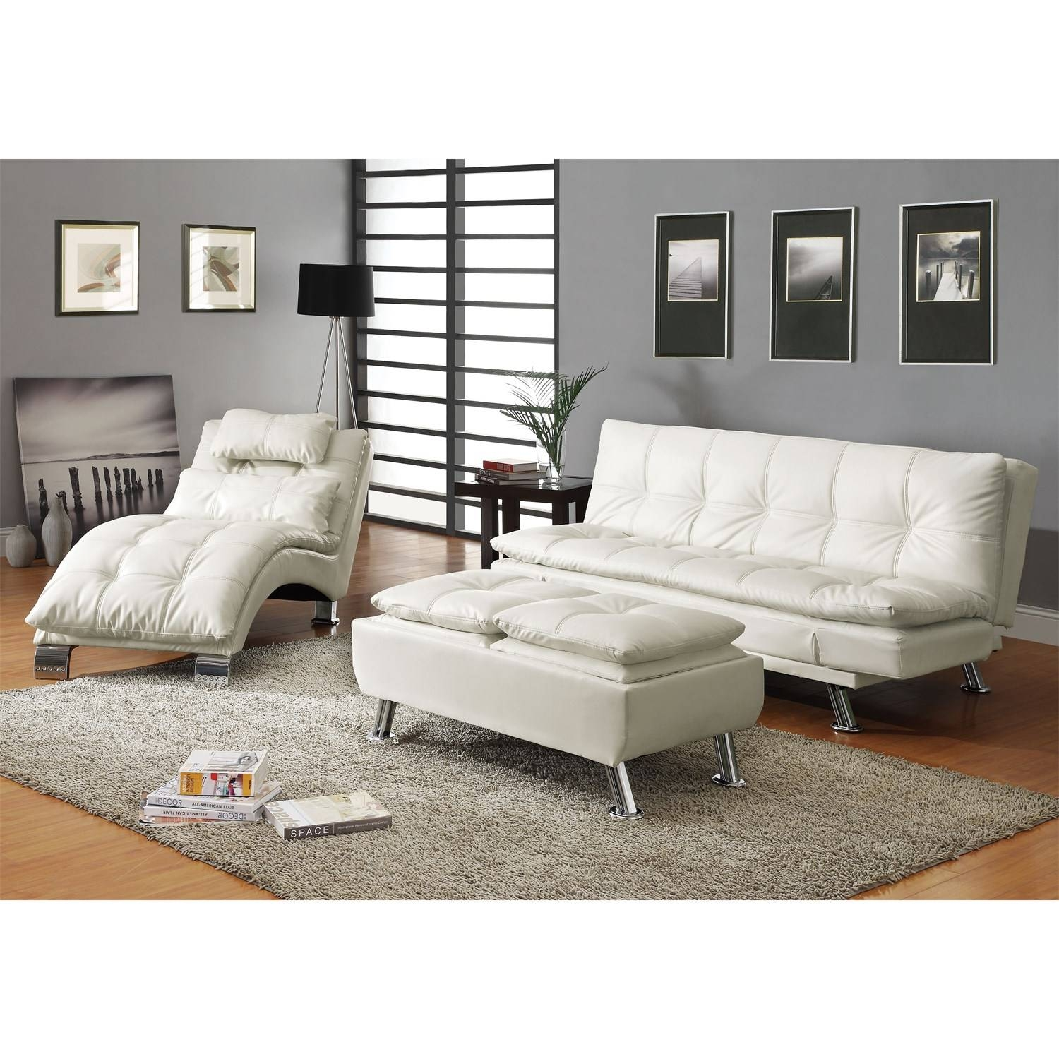 Coaster Furniture 300291 Contemporary Futon Sleeper Sofa Bed In regarding Coaster Futon Sofa Beds (Image 5 of 15)