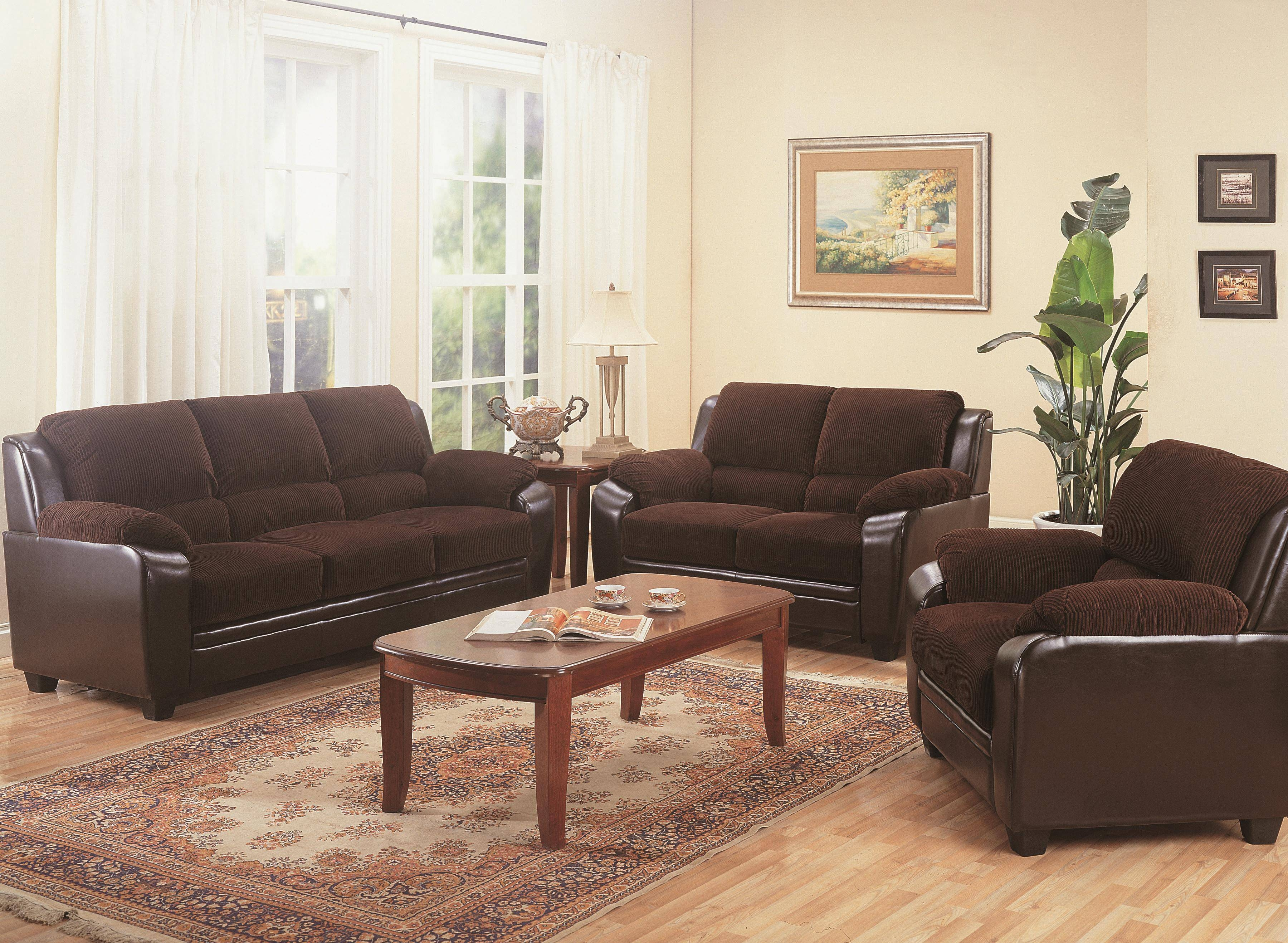 Coaster Monika Stationary Sofa With Wood Feet – Coaster Fine Furniture Within Casual Sofas And Chairs (View 9 of 15)