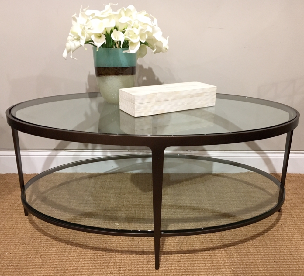 Cocktail And Coffee Tables — Random Harvest inside Metal Oval Coffee Tables (Image 3 of 15)