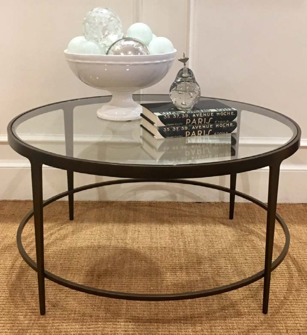 Cocktail And Coffee Tables — Random Harvest throughout Iron Glass Coffee Table (Image 3 of 15)