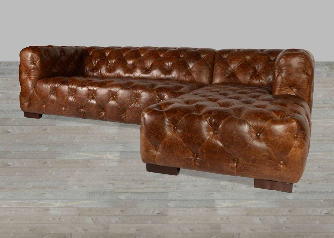 Coco Brompton Leather Vintage Sectional with regard to Brompton Leather Sectional Sofas (Image 5 of 15)