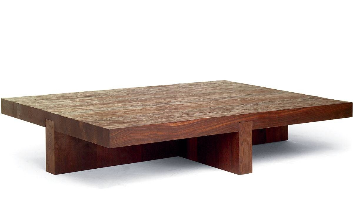 Coffee Table: Cool Low Coffee Table Design Ideas Low Coffee Table intended for Low Wood Coffee Tables (Image 4 of 15)