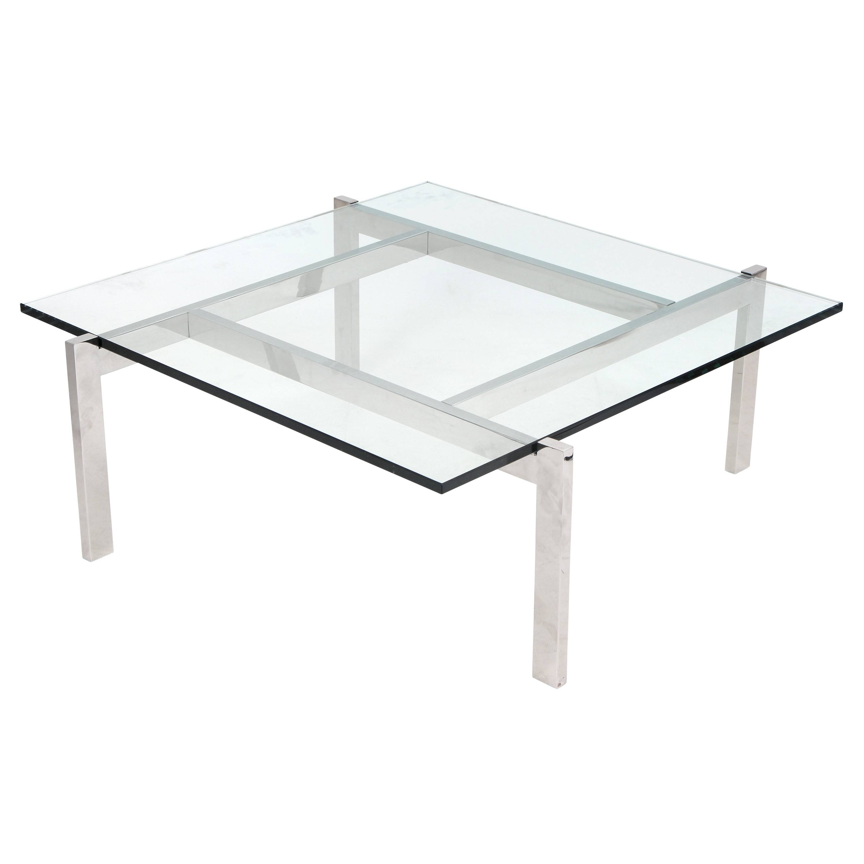 Coffee Table: Elegant Glass Square Coffee Table Ideas Glass Coffee intended for Square Coffee Table Modern (Image 3 of 15)