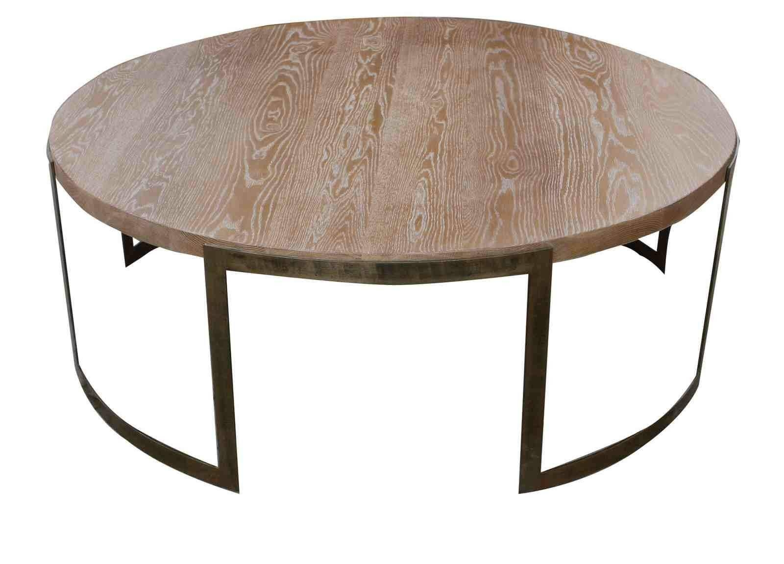Coffee Table: Enchanting Round Industrial Coffee Table Ideas pertaining to Industrial Round Coffee Tables (Image 2 of 15)