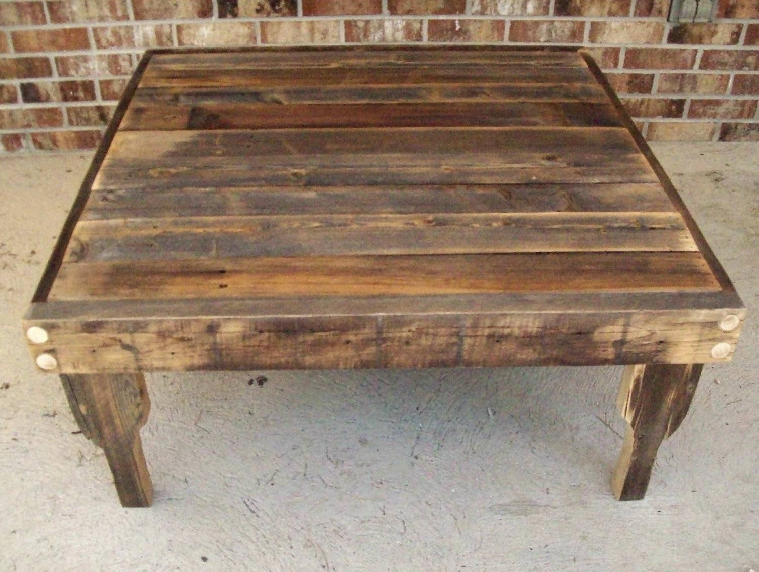 Coffee Table: Extraordinary Square Rustic Coffee Table Design throughout Large Rustic Coffee Tables (Image 1 of 15)