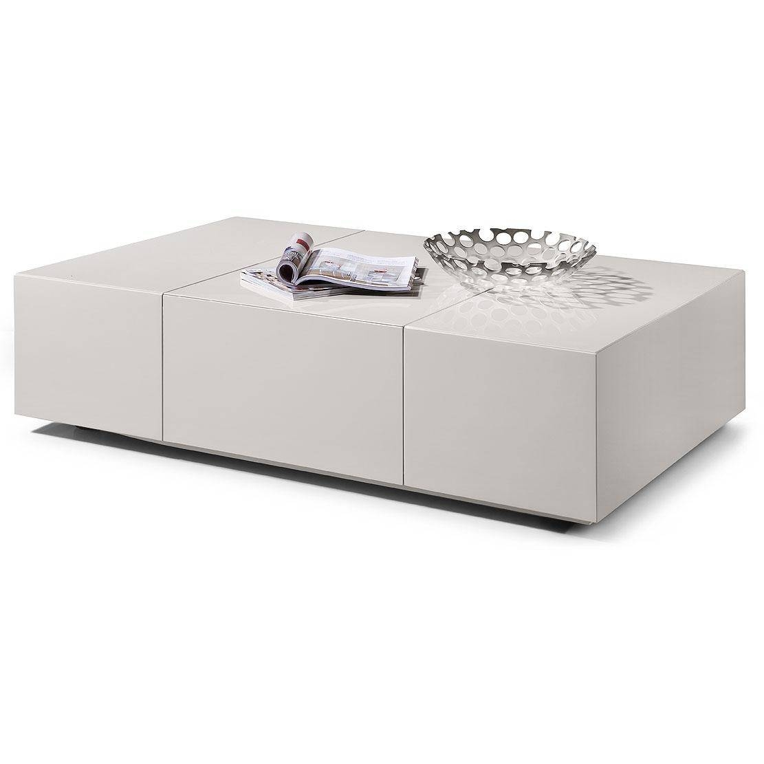 Coffee Table: Impressive White Coffee Tables With Storage Square in Modern Coffee Tables With Storage (Image 2 of 15)