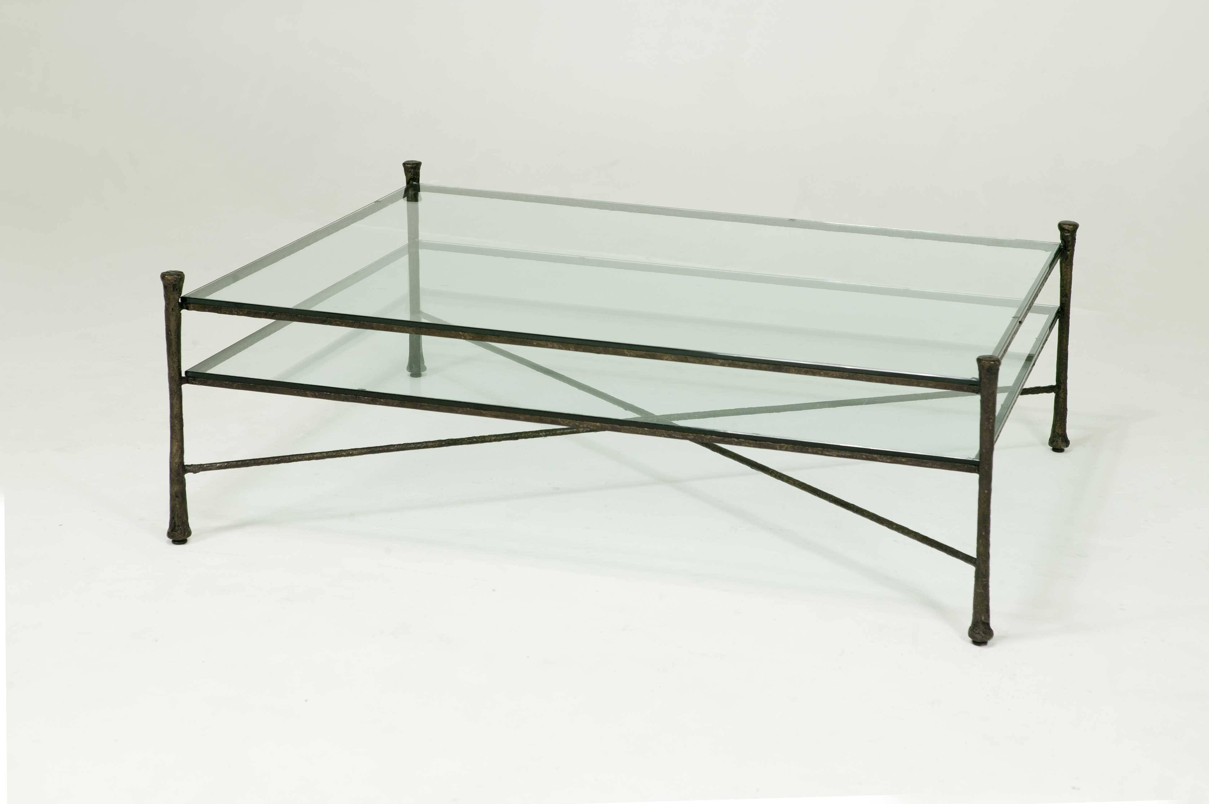 Popular Photo of Iron Glass Coffee Table