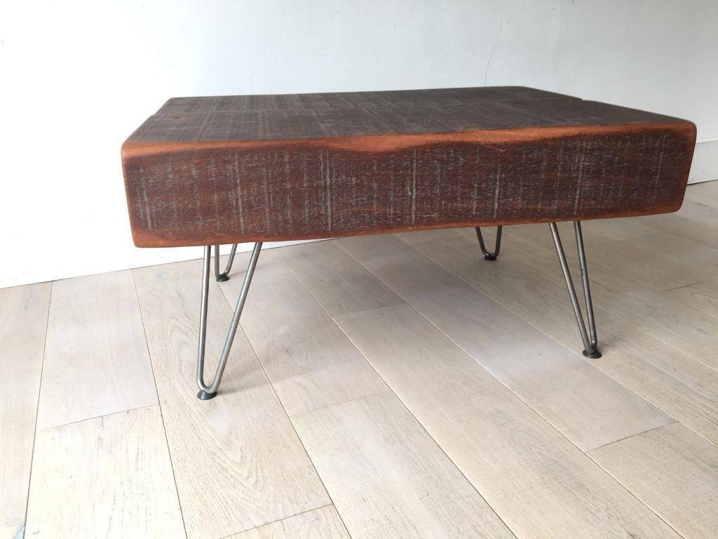 Coffee Table , Jarrah Wood , Railway Sleepers, Industrial, Rustic throughout Oak Sleeper Coffee Tables (Image 1 of 15)